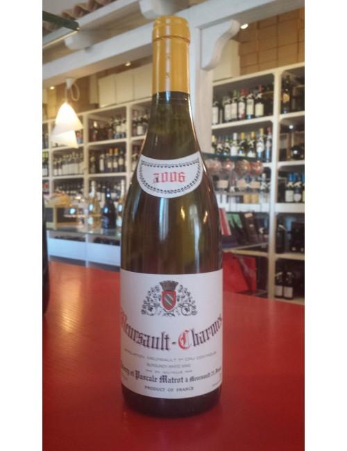 Vino Domaine Pierre Matrot MEURSAULT 1er cru Les Charmes 2006 cl 75