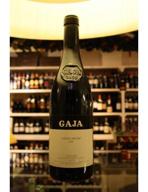 Vino rosso piemontese Gaja COSTA RUSSI LANGHE NEBBIOLO '04 cl. 75