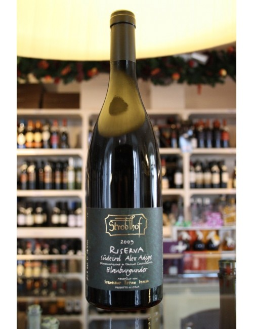 Vino rosso altoatesino Stroblhof Pinot Nero RISERVA cl 75