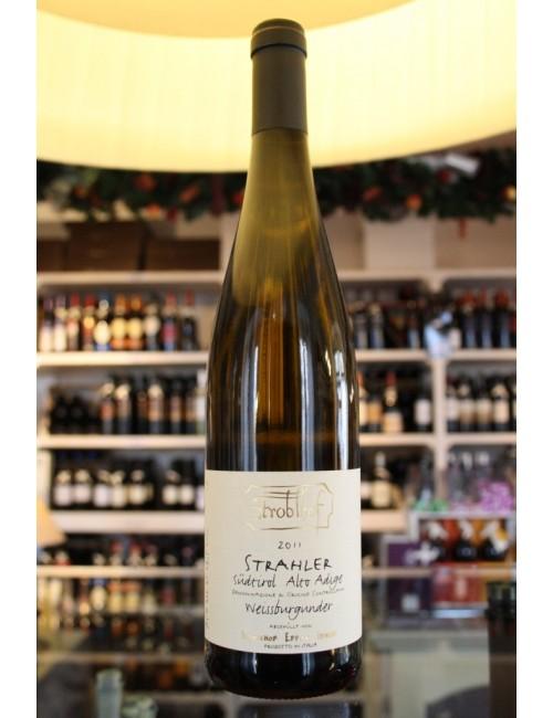 Vino bianco altoatesino Stroblhof Pinot Bianco STRAHLER cl 75
