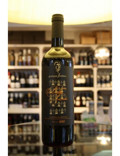 Vino rosso sardo Sedilesu BALLU TUNDU riserva 2010 Rosso D.O.C cl 75